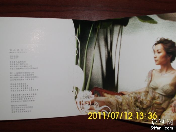 汤灿正版专辑 大长今主题曲 呼唤 CD VCD